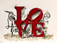 Original Drawing with Frame - Love - Art by SLAZO - 16x20