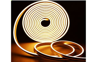 Striscia led neon 5m tubo flessibile luminoso 120led strip led bobina naturale