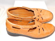 Clarks Bendables 7 M  Tan Leather Flat Loafers 39337 VGC
