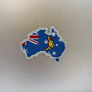 Australia Boxing Kangaroo Patch — Iron On Badge Embroidered Motif — Flag Aussie