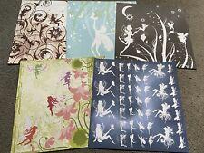 "Bundle Of Five Enchanted Fairy Decorative Paper Scrapbooking Sheets 12x12"""