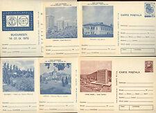 Romania 1975, 6 Unused Stationery Post Cards #C21395