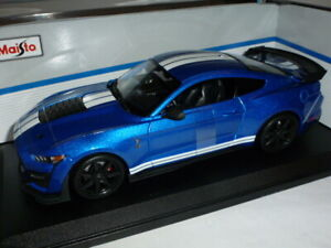 2020 Ford Mustang Shelby GT500 1:18 Metallic Blue by Maisto
