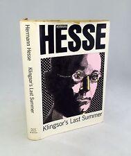 Klingsor's Last Summer-Hermann Hesse-TRUE First U.S. Edition/1st Printing-RARE!!