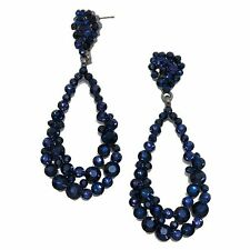 Butterfly Rhinestone Pear Drop/Dangle Costume Earrings