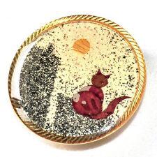 Clip de foulard couleur or motif chat grain de sable bijou