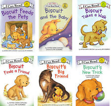 I Can Read My First  Biscuit Feeds the Pets,New Baby,Big Friend+(6 Paperbacks)