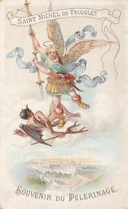 ANCIENNE IMAGE PIEUSE HOLY CARD SAINT MICHEL DE FRIGOLET LITANIES 1900