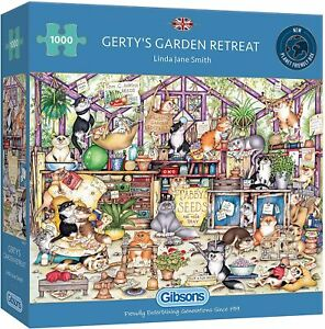 Gerty's Garden Retreat 1000 Piece Jigsaw Puzzle by Gibsons