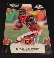 CHAD JOHNSON  2008 Score BLACK Super Bowl XLIII Parallel 100 MADE Rare BENGALS