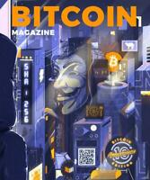 Bitcoin Magazine 10th year Anniversary issue map insert. RARE LIMITED FREE SHIP