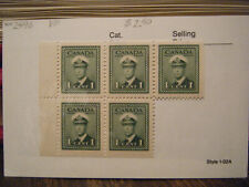 Canada  Scott  249as  Booklet  Stamp  MNH