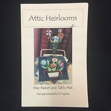 Attic Heirlooms May Basket and Table Mat Sewing Pattern Felted Wool Scrap Flower