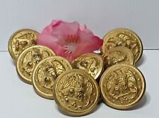 Vtg WWII Waterbury Button Co Eagle Navy Military Uniform Lot of 8