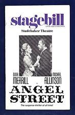 "Dina Merrill ""ANGEL STREET"" Michael Allinson 1975 Chicago Tryout Playbill"