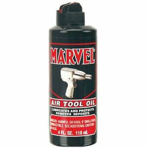 Marvel MM080R Air Tool Oil 4 oz. Bottle Lubricates and Protects Removes Deposits