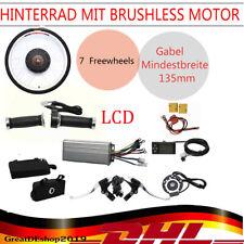 """E-Bike Conversion Kit 36V 800W 26"""" mit LCD Display Heckmotor Heck Umbausatz Neu"""