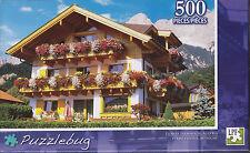 NEW Puzzlebug 500 Piece Jigsaw Puzzle ~ Flower Farmhouse, Austria