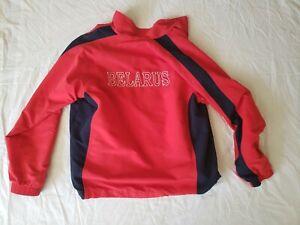 Men's Belarus National Hockey Team Red Authentic Jacket Size Medium