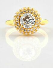 2.30CT Diamond Round Shape D/VVS1 Real 14K Yellow Gold Solitaire Engagement Ring