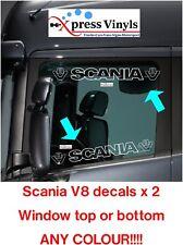 Scania V8 window decals x 2. truck graphics vinyl stickers