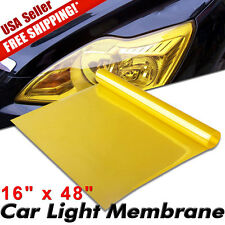 "16"" x 48"" Glossy Golden Yellow Vinyl Film Tint Wrap For Headlight Fog Light Lamp"