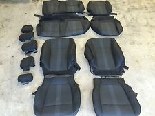 FACTORY OEM REPLACEMENT CLOTH SEAT COVERS BLACK 2016 FORD F150 SUPER CREW