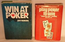 2 Hardcover How to Win at Poker Instruction Books