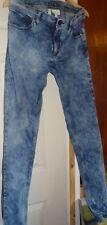 Hommes Adidas Neo Slim Jeans STONE WASH BLEU Fab état W-34 L-36