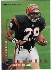 1997 DONRUSS COREY DILLON BENGALS NFL RB SIGNED FOOTBALL CARD