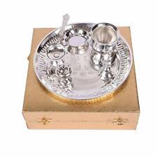 "New Brass Pooja Puja Aarti Thali Set Plate Worship Ritual, 9"""