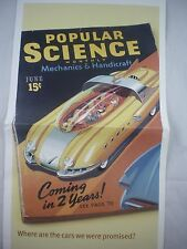 Infiniti G35 Popular Science Future Mechanics Flying Car,Space,Auto, Poster Pic