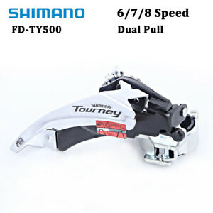 SHIMANO Tourney FD-TY500 6/7/8Speed MTB Bike Front Derailleur Clamp-On Dual Pull