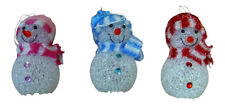 "Cute Christmas Festive Colour Changing 4.5"" LED Hanging Snowman Battery Operated"