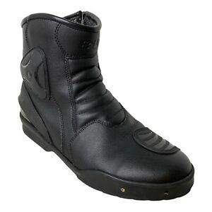 Bilt Black Motorcycle Riding Boots Men's Size 11 Zip Up