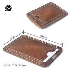 Men Genuine Leather Mini Slim Wallet ID Credit Card Holder Coin Purse Clutch Bag