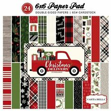 """CARTA BELLA """"CHRISTMAS DELIVERY"""" 6X6 PAPER PAD WINTER  SCRAPJACK'S PLACE"""