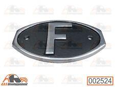 """Plaque aluminium """" F """" de pare choc ou malle arrière Citroen 2cv - 002524 -"""