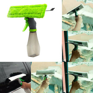 Window Cleaner Tool Spray Bottle Squeegee Glass Cleaning for Indoor/Outdoor