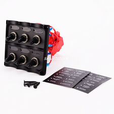 12-24V Boat RVS Electric 6 Gang Led Toggle Switch Panel For Marine Car Truck