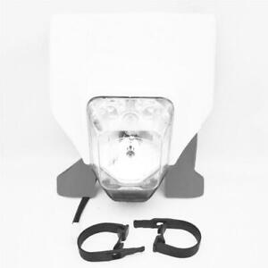 White Plastic Headlight For Husqvarna FC FE FX TC TE TX 125 250 300 350 450 501