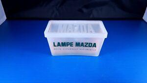 Ancienne boite à ampoules en plastique MAZDA vintage d'origine