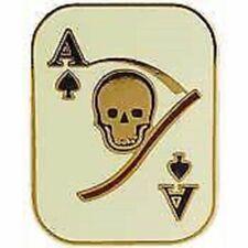 Vietnam Death Card Ace Of Spades Military Desert Pin