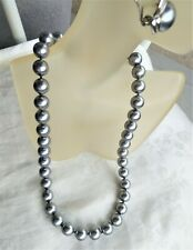 GRAY MAJORCA/MALLORCA PEARL NECKLACE 12MM MAGNETIC CLASP STYLE VINTAGE MAJORICA