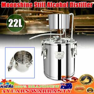 22L Moonshine Still Essential Oil Alcohol Gas Water Vodka Copper Distiller New