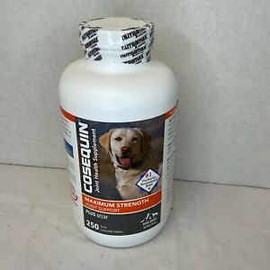 Cosequin Maximum Strength Plus MSM for Dogs All Sizes (250 Count) NEW 04/2023