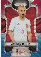 2018 Panini FIFA World Cup Blue Red Wave Prizm (197) Andres INIESTA Spain