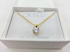 "Crislu 18K Gold Vermeil 17"" Necklace with 1.0 Ct Cubic Zirconia R$79.00 our 5216"
