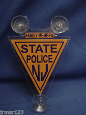 NJSP  NEW JERSEY STATE POLICE   POLICE FAMILY MEMBER CAR SHIELD  PBA -FOP -02