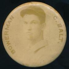 1898 PE4 Cameo Pepsin Gum Pin Baseball Frank Bowerman Baltimore Orioles